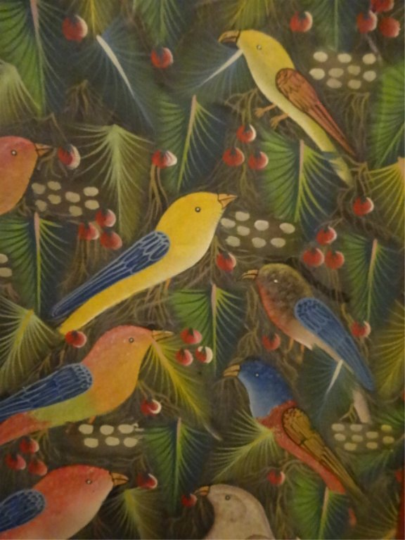 JEAN CLAUDE LOUISSAINT PAINTING ON BOARD, TROPICAL - 7