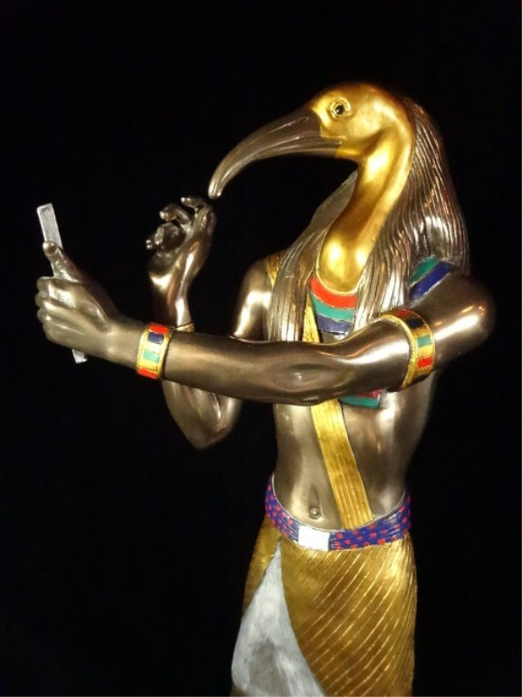 EGYPTIAN SCULPTURE, THOTH, VERONESE, CIRCA 2001, - 2
