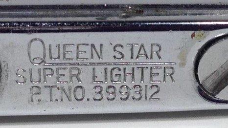 QUEEN STAR SUPER LIGHTER, MOTHER OF PEARL DESIGN, P.T. - 8