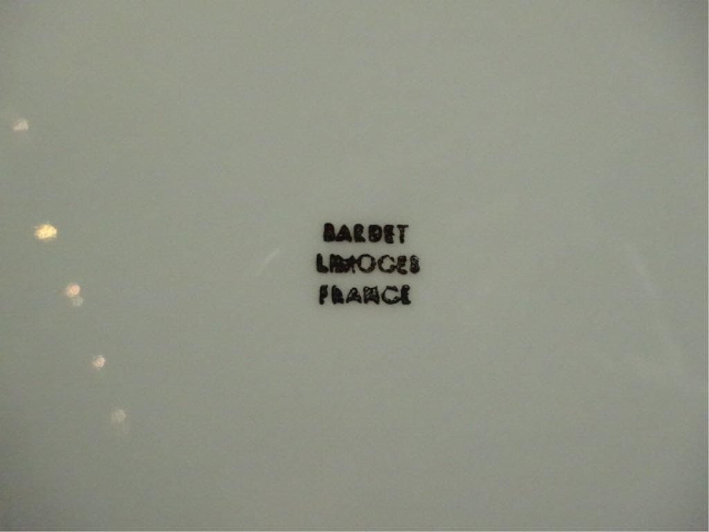 BARDET LIMOGES FRANCE PLATE, FRAGONARD COURTING COUPLE, - 4