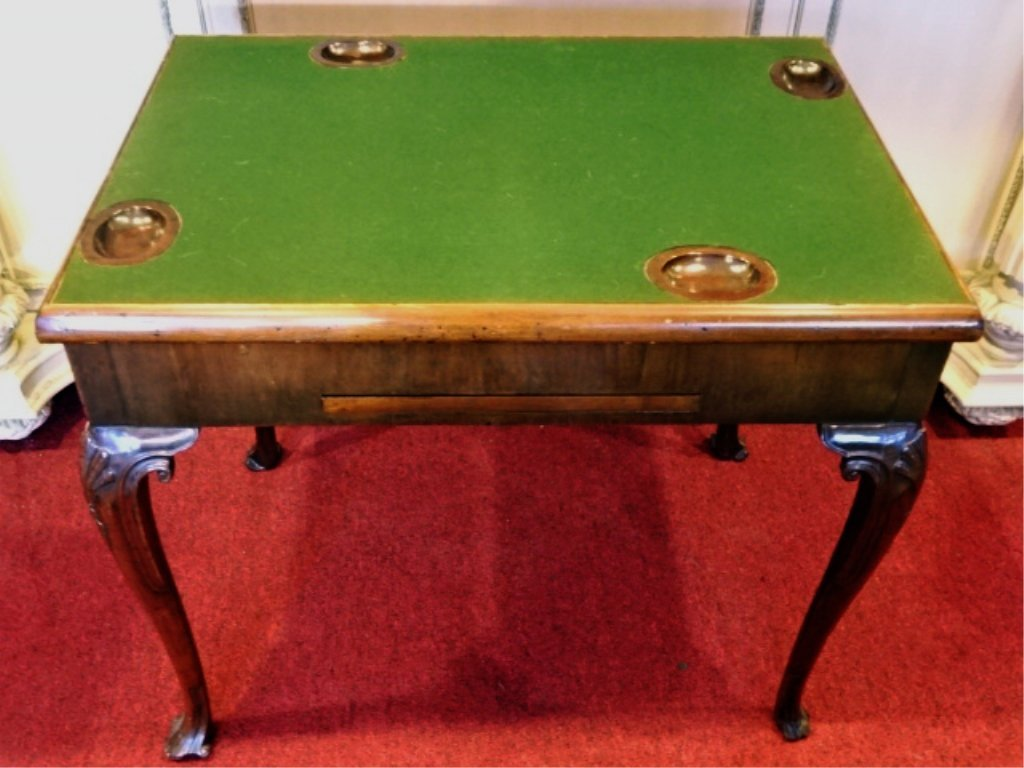 ANTIQUE INLAID WOOD GAME TABLE, 19TH C., REVERSIBLE FEL