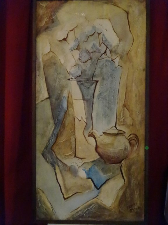 ELWIN PORTER SIGNED OIL ON BOARD PAINTING, STILL LIFE