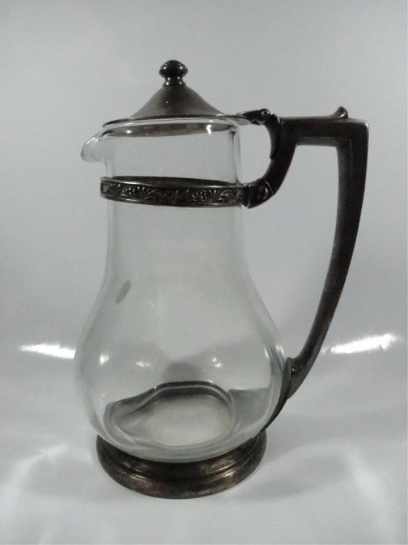 INTERNATIONAL SILVER GLASS & SILVERPLATE PITCHER,