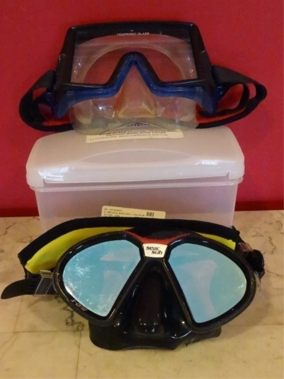 2 DIVE MASKS, ONE BY SEAC SUB, EXCELLENT GENTLY USED