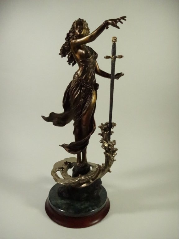EMILY KAUFMAN BRONZE SCULPTURE, THE LADY OF THE LAKE,