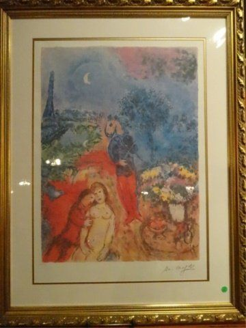 LARGE MARC CHAGALL LITHOGRAPH, LIMITED EDITION NUMBERED