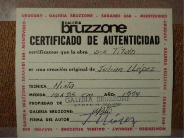 2 JULIAN LLOPEZ MIXED MEDIA ON BOARD PAINTINGS, EACH AN - 4
