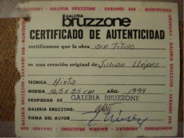 2 JULIAN LLOPEZ MIXED MEDIA ON BOARD PAINTINGS, EACH AN - 9