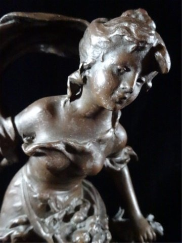 AFTER AUGUSTE MOREAU FIGURAL SCULPTURE, YOUNG WOMAN, - 6