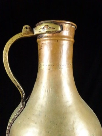 "COPPER JUG WITH BRASS HANDLE, 18"" X 9"", SKU905.17 - 3"