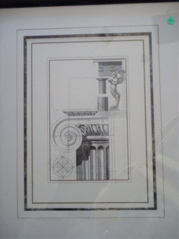 3 ARCHITECTURAL PRINTS, MATTED WITH BLACK FRAMES, VERY - 3