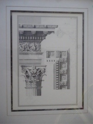 3 ARCHITECTURAL PRINTS, MATTED WITH BLACK FRAMES, VERY - 4