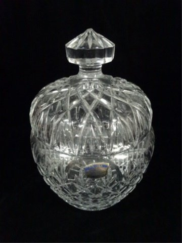 POLONIA 24% LEAD CRYSTAL BOWL WITH LID, WITH ORIGINAL - 2