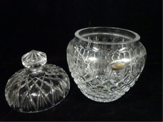 POLONIA 24% LEAD CRYSTAL BOWL WITH LID, WITH ORIGINAL - 4