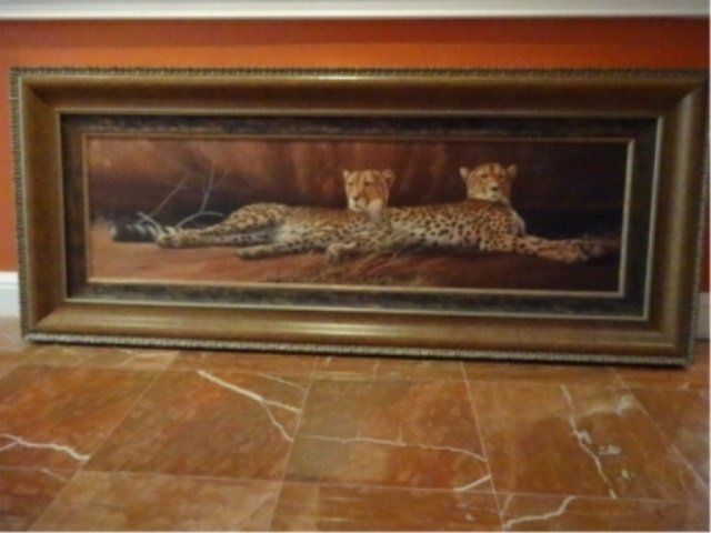 LIMITED EDITION GICLEE, 2 CHEETAHS, SIGNED LOWER LEFT