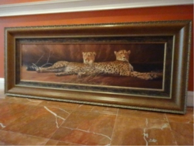 LIMITED EDITION GICLEE, 2 CHEETAHS, SIGNED LOWER LEFT - 2
