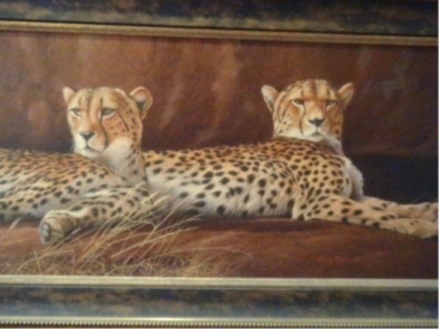 LIMITED EDITION GICLEE, 2 CHEETAHS, SIGNED LOWER LEFT - 3