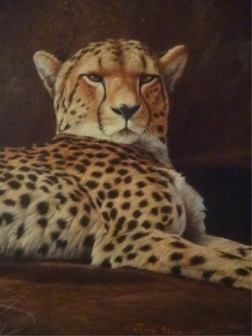 LIMITED EDITION GICLEE, 2 CHEETAHS, SIGNED LOWER LEFT - 4