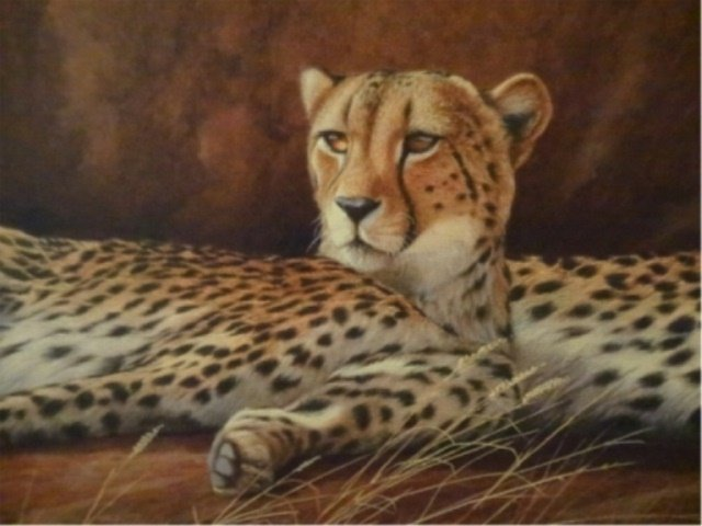 LIMITED EDITION GICLEE, 2 CHEETAHS, SIGNED LOWER LEFT - 5