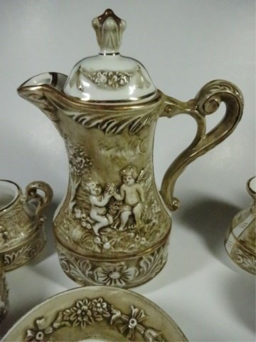 15 PC R. CAPODIMONTE DEMITASSE SET, INCLUDES COFFEE - 2