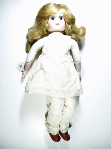 PORCELAIN HEAD DOLL, DYNASTY DOLL COLLECTION, APPROX