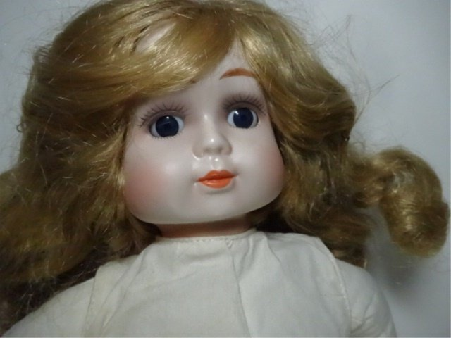 PORCELAIN HEAD DOLL, DYNASTY DOLL COLLECTION, APPROX - 2
