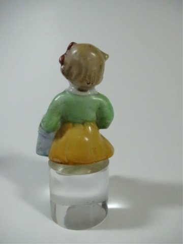 4 PC GROUP, FIGURINES & DOLL'S HEAD, LARGEST APPROX - 3