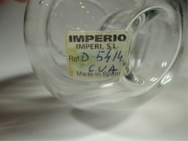 IMPERIO GLASS CANDLE HOLDER, MADE IN SPAIN, APPROX - 3
