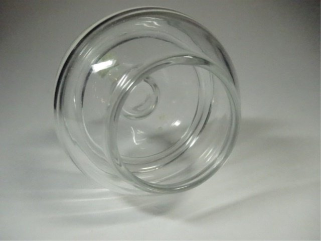 IMPERIO GLASS CANDLE HOLDER, MADE IN SPAIN, APPROX - 4