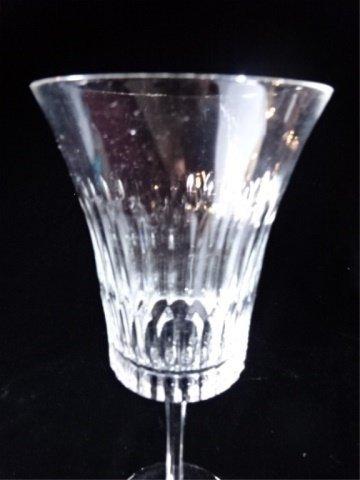 """PAIR TALL CUT CRYSTAL WINE GLASSES, 9.5"""" X 4"""". - 2"""