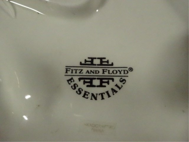 FITZ & FLOYD CERAMIC PLATE, WHIMSICAL HIPPO IN BED OF - 5