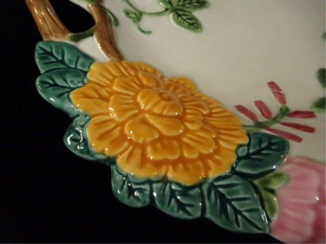 FITZ & FLOYD PORCELAIN PLATE, FLOWERS AND TWIG DESIGN, - 2