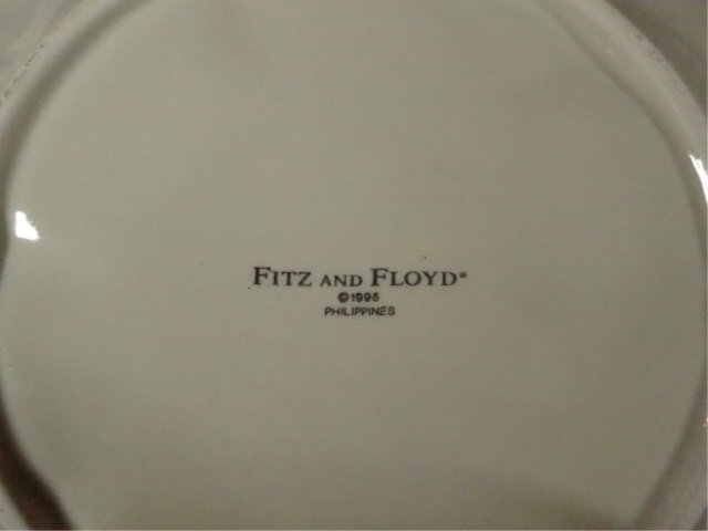 FITZ & FLOYD PORCELAIN PLATE, FLOWERS AND TWIG DESIGN, - 5
