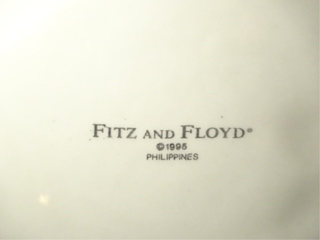 FITZ & FLOYD PORCELAIN PLATE, FLOWERS AND TWIG DESIGN, - 6