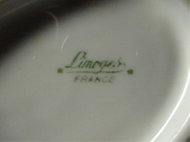 LIMOGES FRANCE PORCELAIN DIVIDED SERVING BOWL, WHITE - 5