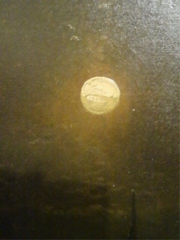 ANTIQUE OIL ON CANVAS PAINTING, NAUTICAL SCENE AT NIGHT - 7