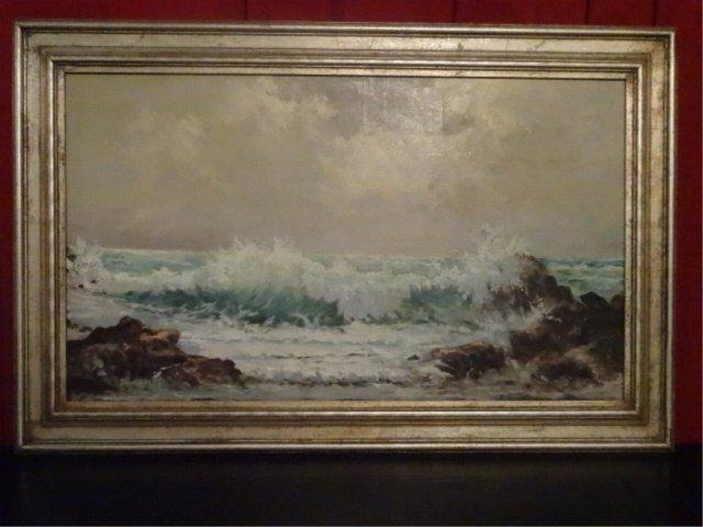 HUGO MULLER-MOHR (1863-1912) OIL ON CANVAS PAINTING,
