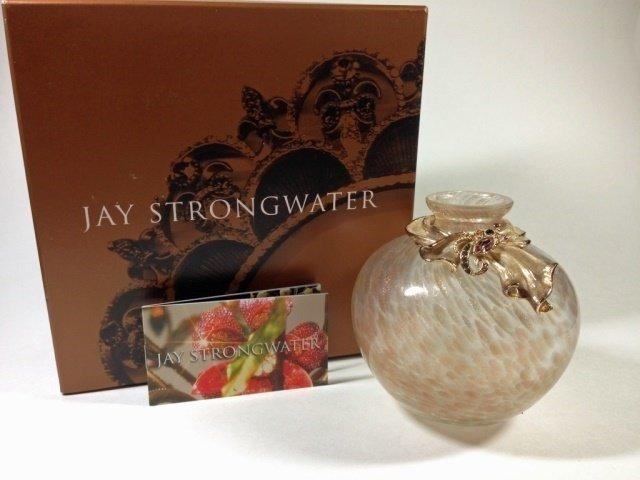 """JAY STRONGWATER SCARF BUD VASE, APPROX 4""""H, WITH - 8"""