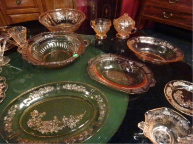 18 PC PINK DEPRESSION GLASS, INCLUDES ANCHOR HOCKING - 3
