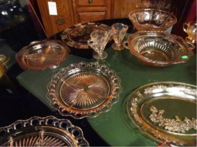 18 PC PINK DEPRESSION GLASS, INCLUDES ANCHOR HOCKING - 4