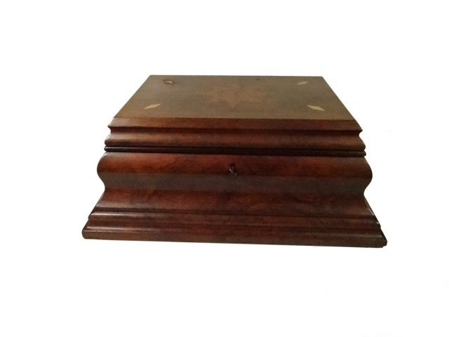 INLAID WOOD BOX, JEWELRY BOX OR SEWING CADDY, MULTIPLE - 2