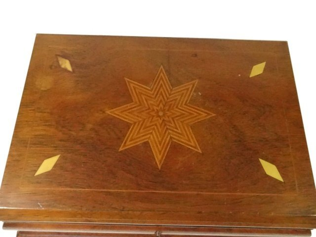 INLAID WOOD BOX, JEWELRY BOX OR SEWING CADDY, MULTIPLE - 3