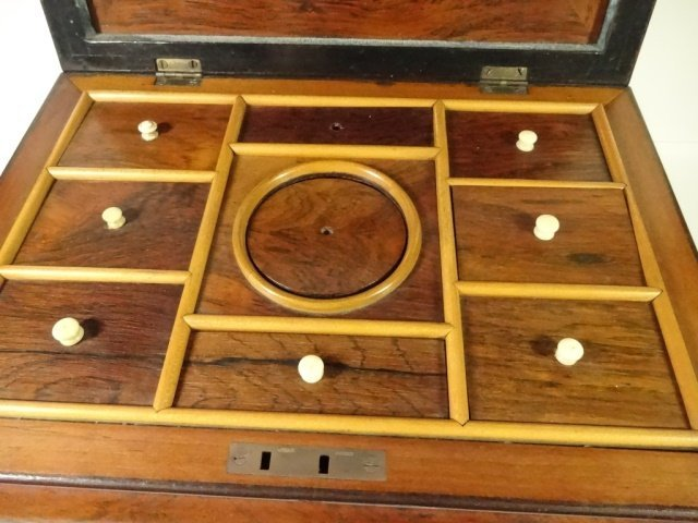 INLAID WOOD BOX, JEWELRY BOX OR SEWING CADDY, MULTIPLE - 4
