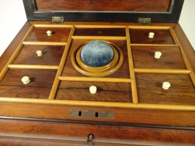INLAID WOOD BOX, JEWELRY BOX OR SEWING CADDY, MULTIPLE - 5