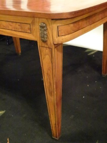 ANTIQUE INLAID TABLE WITH STARBURST DESIGN INLAID TOP, - 8