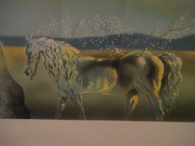 AFTER SALVADOR DALI PRINT, HORSE AND SUNSET, FRAMED - 5