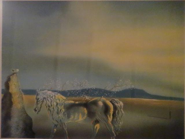 AFTER SALVADOR DALI PRINT, HORSE AND SUNSET, FRAMED - 6