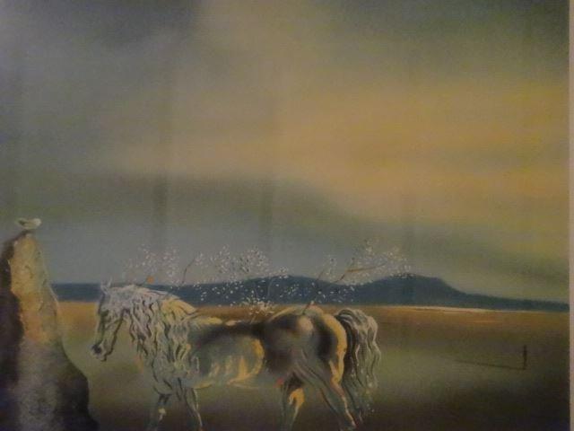 AFTER SALVADOR DALI PRINT, HORSE AND SUNSET, FRAMED - 7