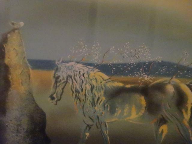 AFTER SALVADOR DALI PRINT, HORSE AND SUNSET, FRAMED - 8