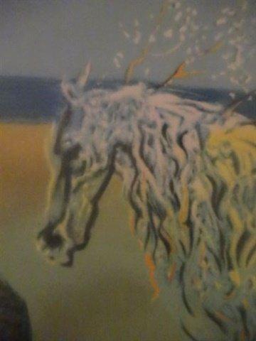 AFTER SALVADOR DALI PRINT, HORSE AND SUNSET, FRAMED - 9